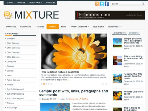 Wordpress en español; plantillas wordpress gratuitas, free templates ...